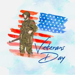 Happy Veterans Day Stickers