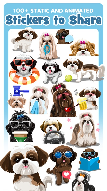 Shih Tzu Dog Emojis Stickers
