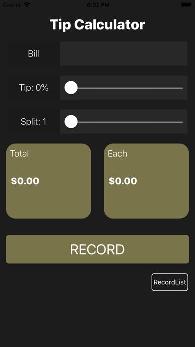 Screenshot #2 pour My-Tip Calculator