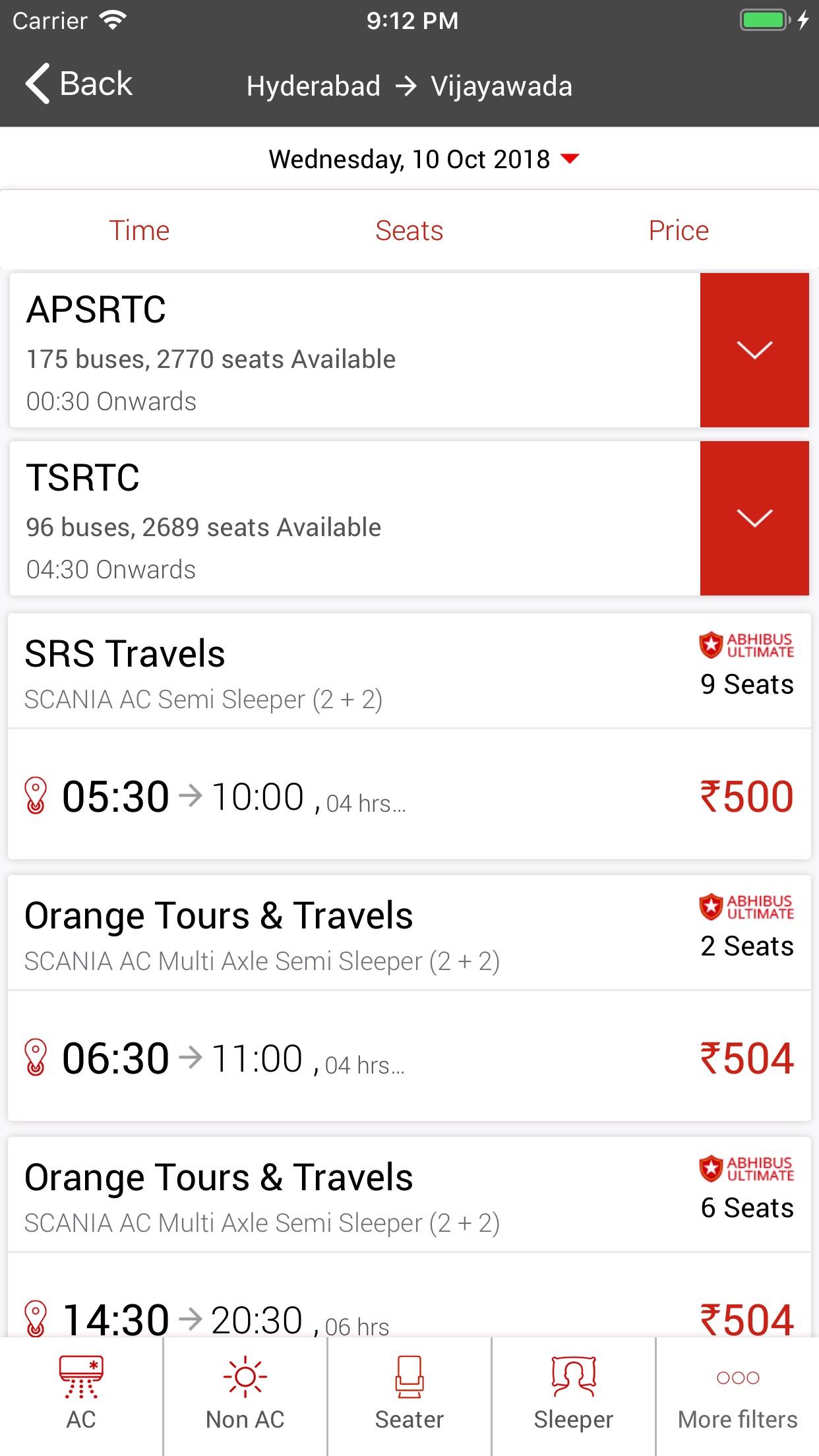 AbhiBus-Online Bus Tickets Screenshot
