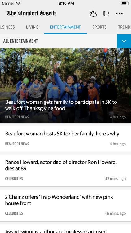 The Beaufort Gazette News screenshot-3