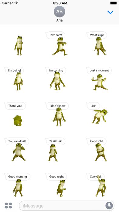 Animated Dancing Frog Stickers screenshot 2