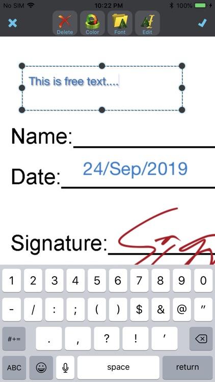 JustSign - eSign documents screenshot-4