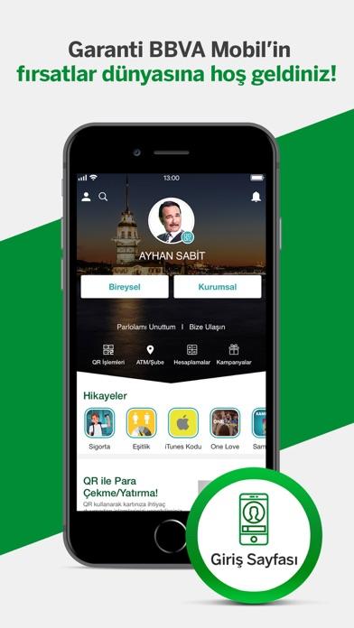 Screenshot for Garanti BBVA Mobil in Turkey App Store