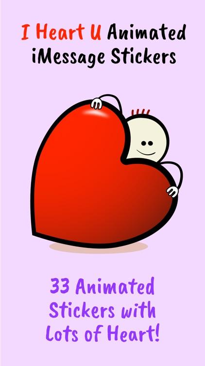 I Heart U Animated Stickers