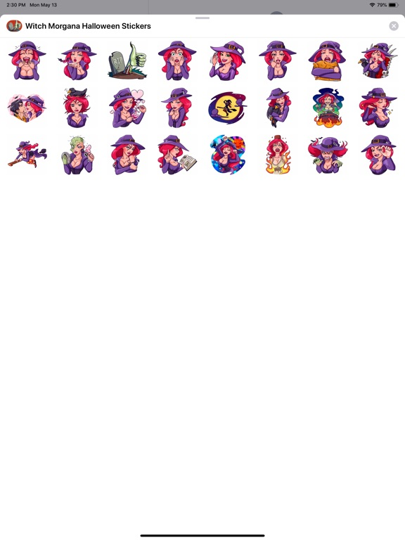 Witch Morgana Stickers screenshot 4
