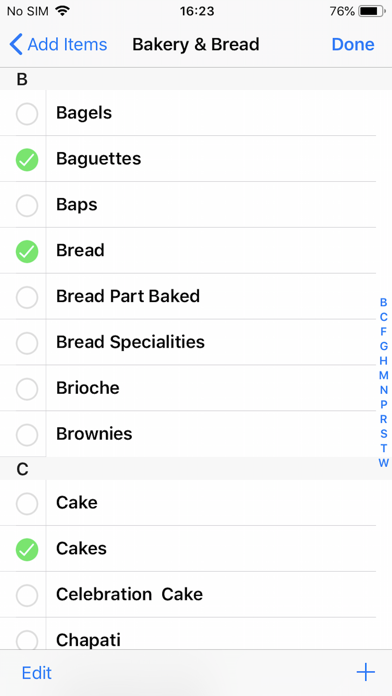Grocery & Shopping List Screenshot