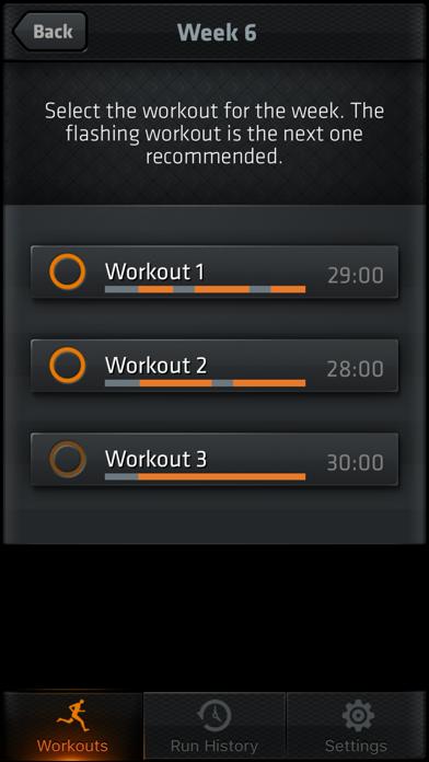 Interval Run Screenshots