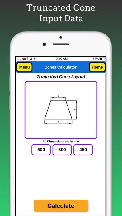 Cones Calculator screenshot 3
