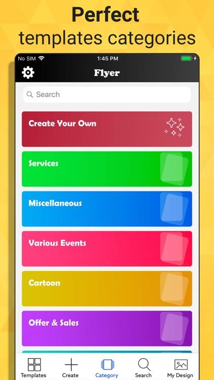 Flyer Maker - Graphic Designer screenshot-4