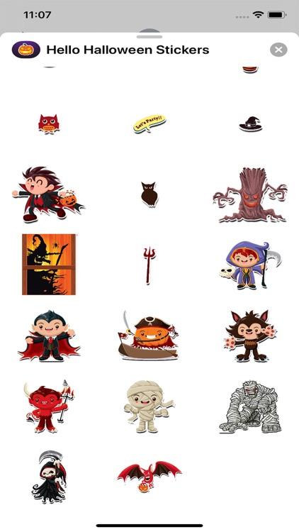 Hello Halloween Stickers screenshot-6