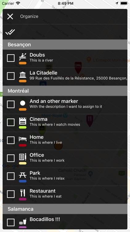 Map Marker: places organizer screenshot-5