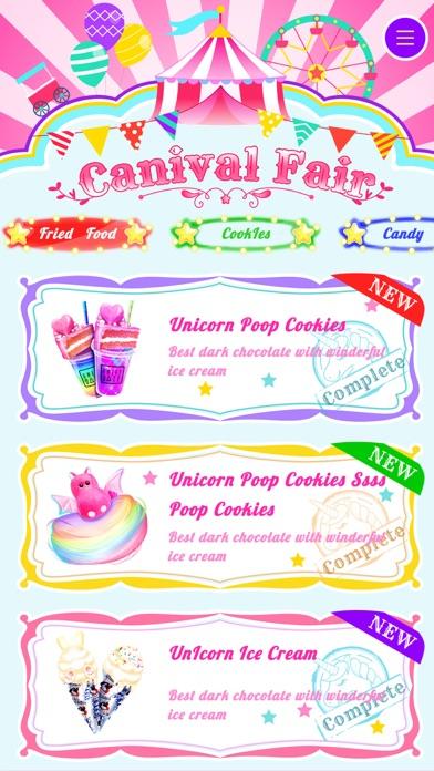Unicorn Carnival Fair Food Screenshot on iOS