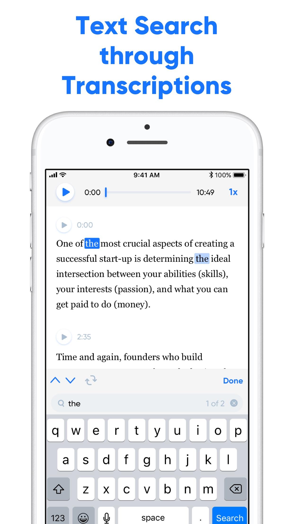 Transcribe - Speech to Text Screenshot