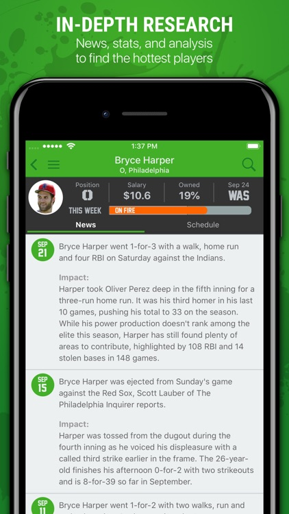 H2H Fantasy Baseball screenshot-6