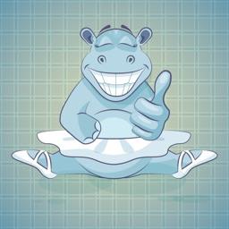 Sticker Me: Happy Hippo Lady