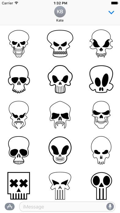 Scary Skull Stickers screenshot one