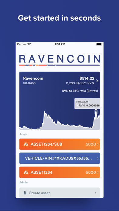 RVN Wallet screenshot one