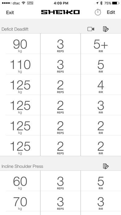 Screenshot for Sheiko - Workout Routines in Singapore App Store