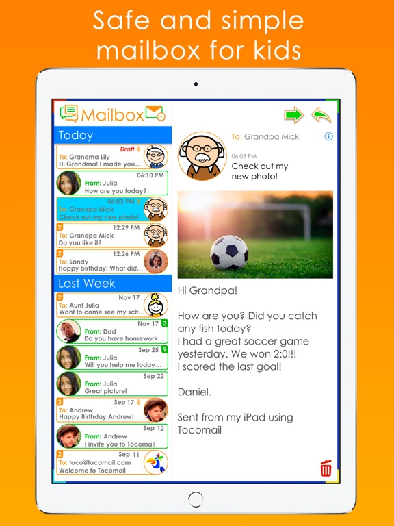Tocomail - Email for Kidsのおすすめ画像1