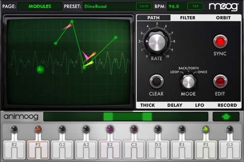 Animoog for iPhone - náhled