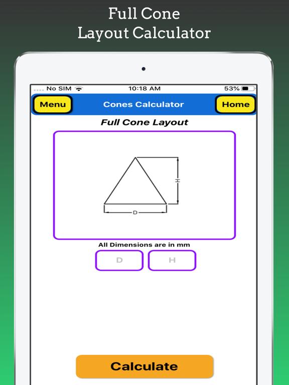 Cones Calculator Pro screenshot 15