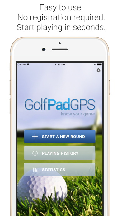 Golf Pad: Golf GPS & Scorecard Screenshot