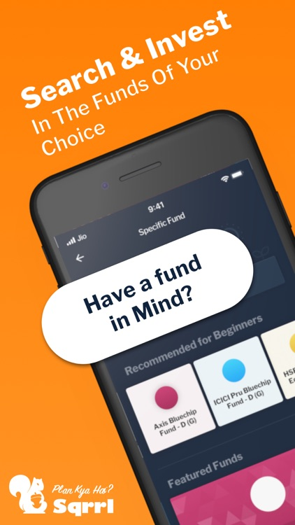 SIP, Mutual Funds App - Sqrrl