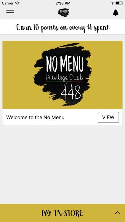 No Menu Privilege Club
