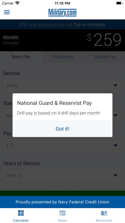 Military Pay by Military.com screenshot-3