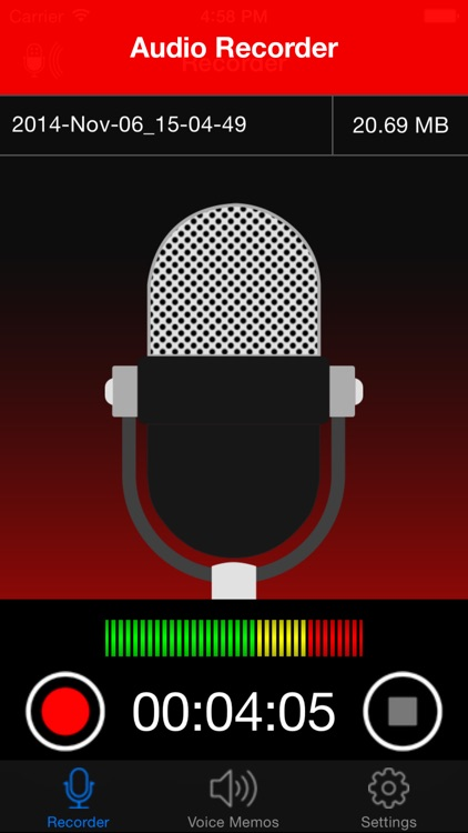 Voice Recorder Lite: Record HD screenshot-0