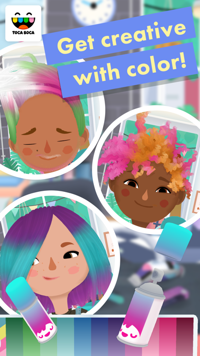 Screenshot of Toca Hair Salon 3 App
