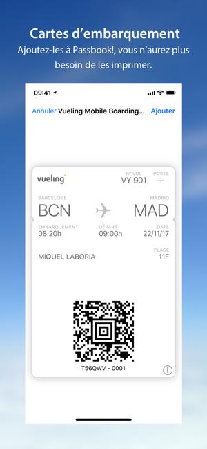 carte d embarquement vueling Vueling   Vols pas chers dans l'App Store