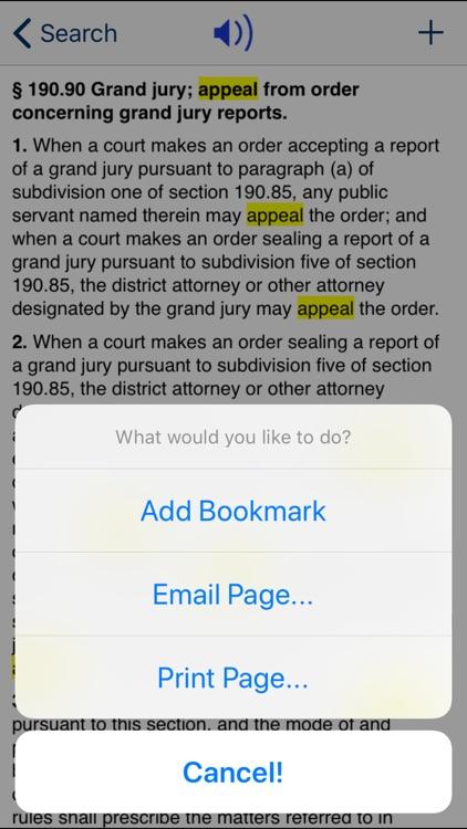NY Criminal Procedure Law 2020 screenshot-3
