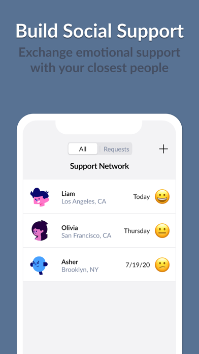 Moodwave - Support Network screenshot 2
