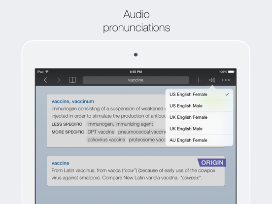 Advanced English Dictionary & Thesaurus (Universal) screenshot