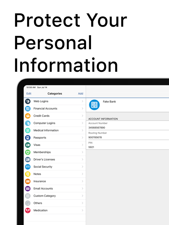 My Eyes Only Pro - Password Manager and Vault screenshot