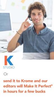 Krome Studio Plus iphone images