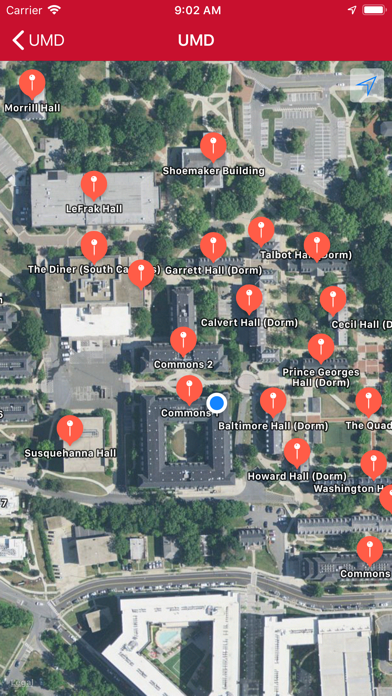 Campus Maps Screenshot