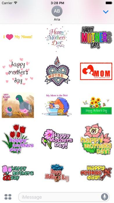 I Love Mom Animated Sticker screenshot 3