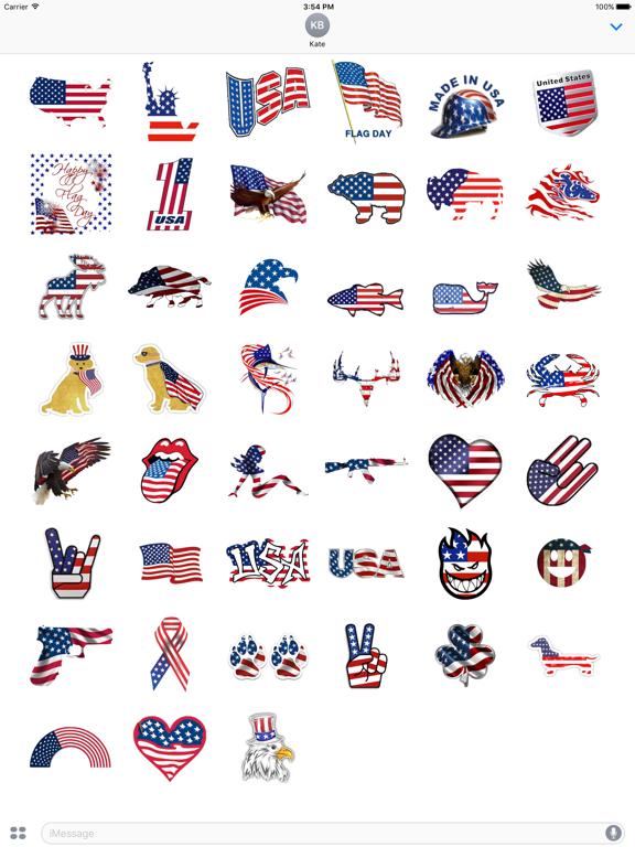 I Love The American Flag Icon screenshot 6