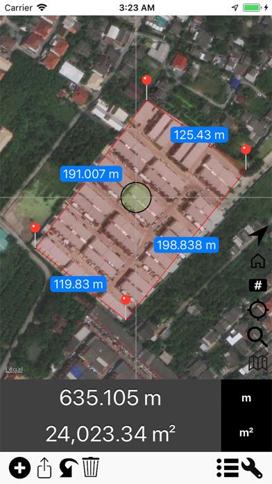 Screenshot #3 pour Area & Distance - Map Measure