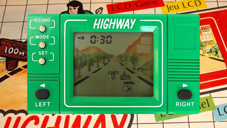 Highway LCD Retro game