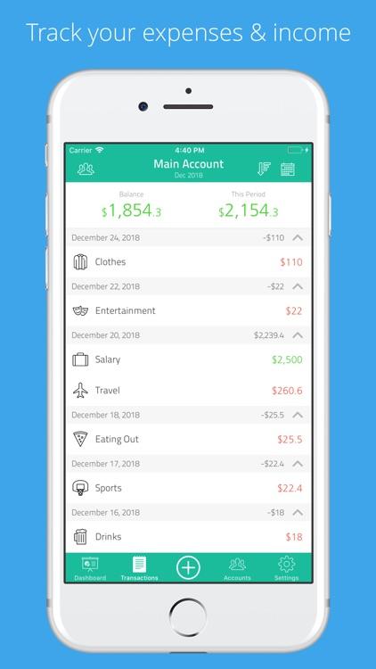 Moneyboard: Budget money spent screenshot-3