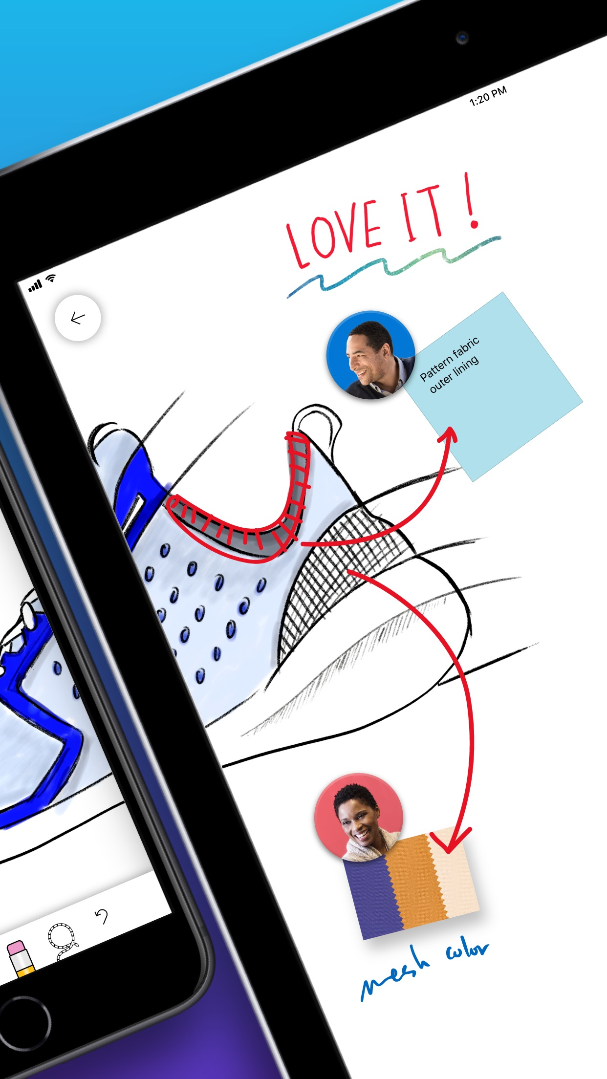 Screenshot do app Microsoft Whiteboard