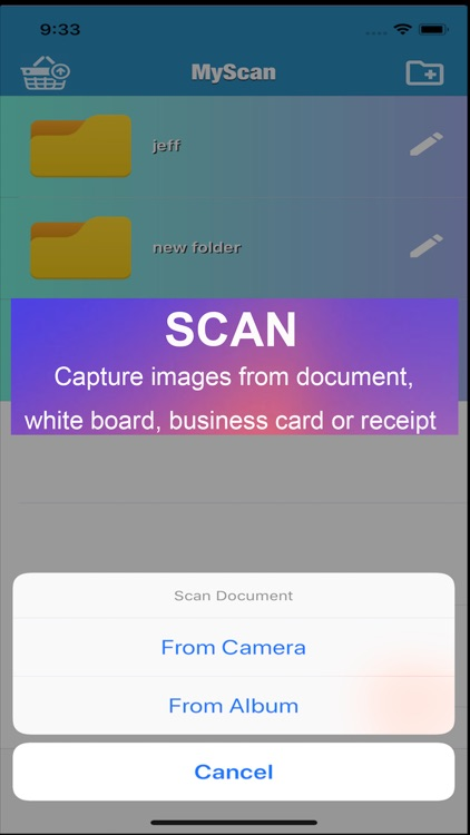 MyScan HD: mobile scanner