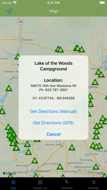Wisconsin – Camping & RV spots screenshot-2