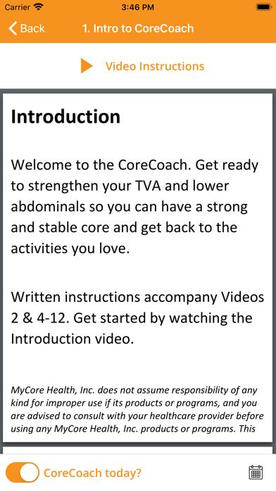 CoreCoach TVA trainer screenshot three
