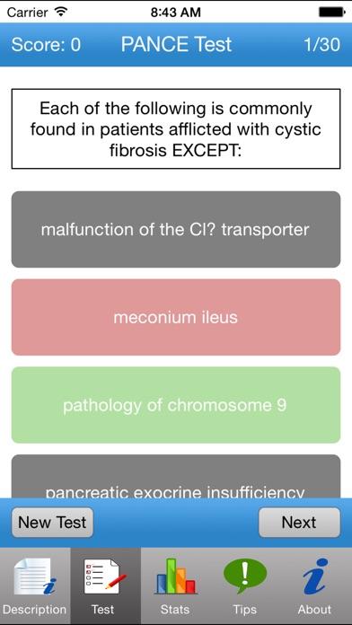PANCE Tests Screenshots