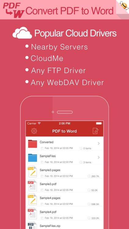 PDF to Word Pro by Flyingbee screenshot-3